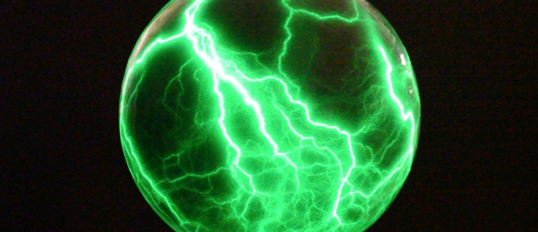 Crackle Globe Plasma Display