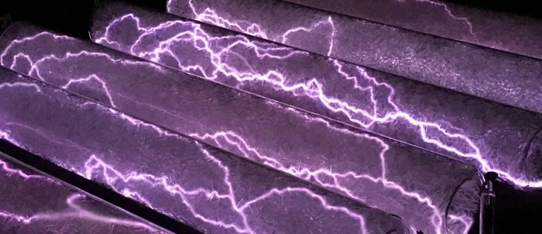 Crackle Tube Plasma Display